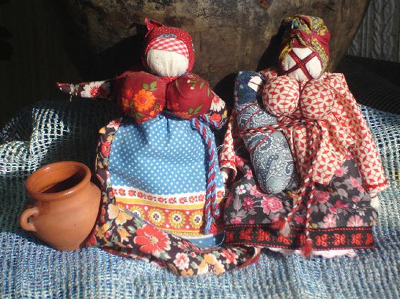 Куклы из тряпочек шили